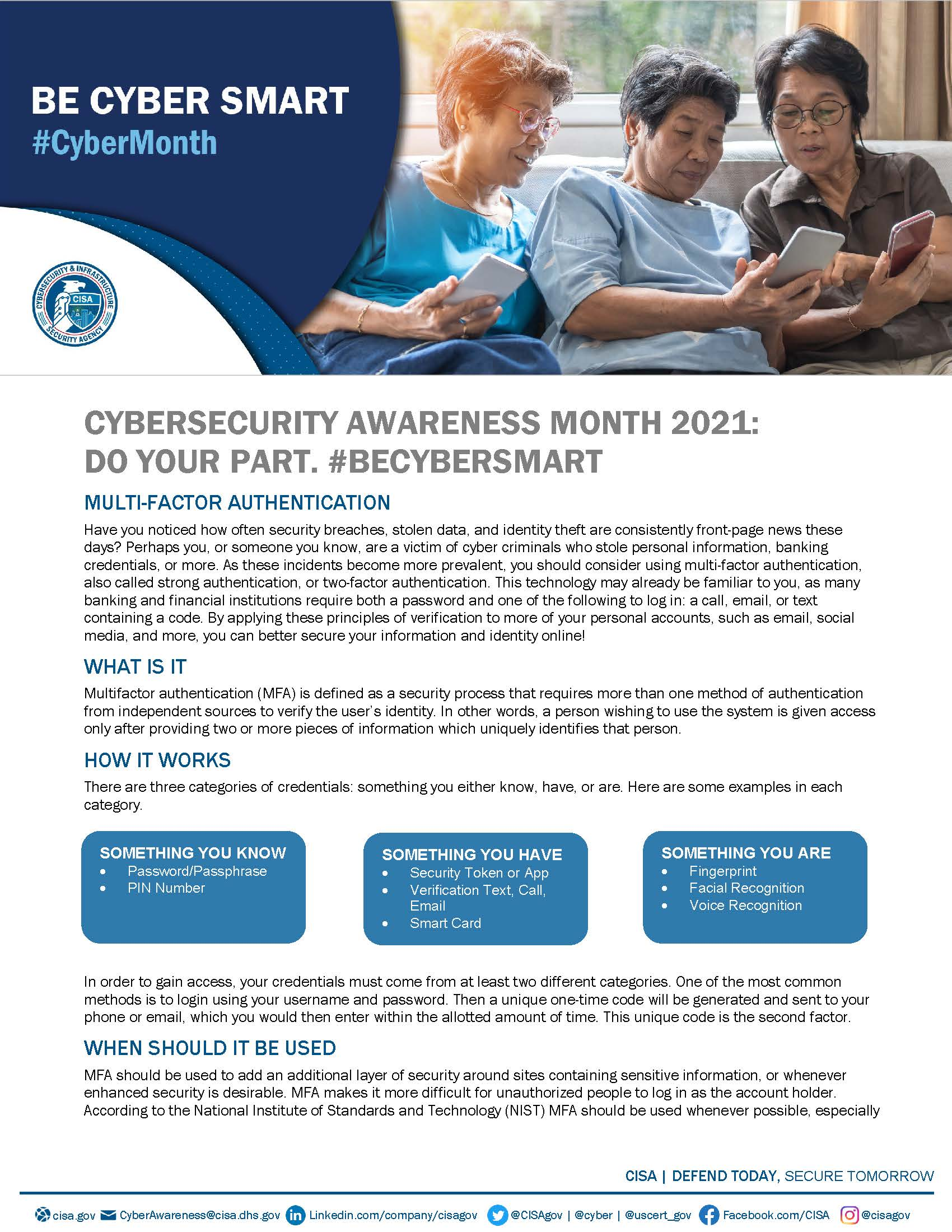 Cybersecurity Awareness Month 2021 - MFA Tip Sheet_Page_1