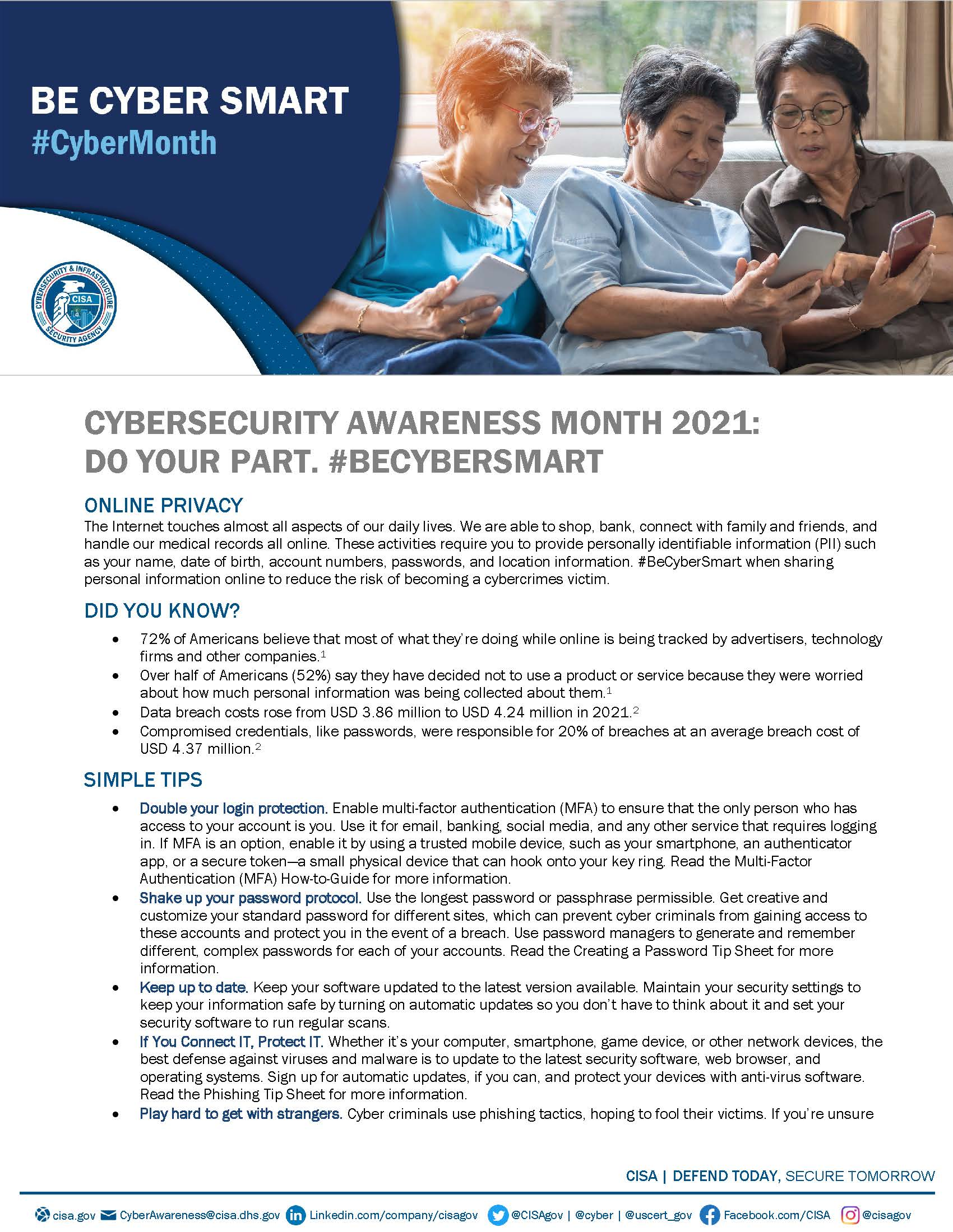 Cybersecurity Awareness Month 2021 - Online Privacy Tip Sheet_Page_1