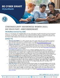 Cybersecurity Awareness Month 2021 - Protecting Your Digital Home Tip Sheet_1_Page_1
