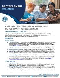 Cybersecurity Awareness Month 2021 - Travel Tip Sheet_Page_1